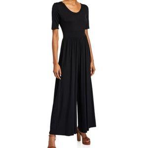 Black Knit Wide Leg Jumpsuit!